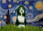 STARRY NIGHT<br>& Bearded Collie (slate)