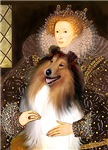 QUEEN ELIZABETH I<br>& Sable & White Collie