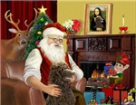 SANTA AT HOME<br>& Standard Poodle