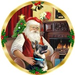 SANTA AT HOME<br>& German Shepherd #15