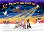 CHRISTMAS SUNRISE<br>& 3 Whippets