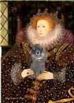 QUEEN ELIZABETH I <br>& Silver Poodle (Toy/Min)
