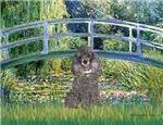 LILY POND BRIDGE<br>& Silver Poodle (Toy/Min)