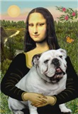 MONA LISA<br>& White English Bulldog