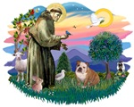 St. Francis #2 &<br>English Bulldog (W-Brn)