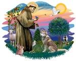 St. Francis #2 &<br>Siberian Husky #2