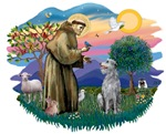 St. Francis #2 &<br>Scottish Deerhound #2