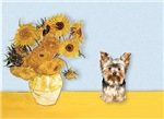 SUNFLOWERS<br>and Yorkshire Terrier #17