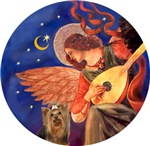 Yorkshire Terrier (#7)<br>Angel With Mandolin