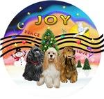 CHRISTMAS MUSIC #2<br> Three Cockers