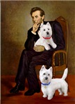 LINCOLN & TWO WESTIES<br>Star of David Tags