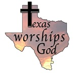 Texas Worships God t-shirts, totes, tees