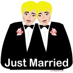 2 Grooms Gay Marriage Gifts, Favors, Tees
