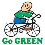 Go Green Tee Shirts, Bags, Accessories