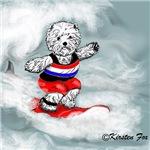 Westie Surfer