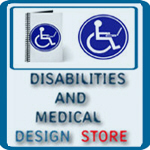 HEALTH: MEDICAL ALERT, DISABILITIES LOGOS, HUMOR