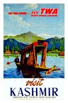 TWA Vintage Fly to Kashmir Advertising Print