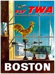 TWA Boston Vintage Print
