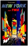TWA Fly to New York Print