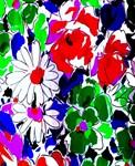 Colorful Flower Art Deco Print