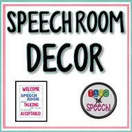 Speech Room Decor