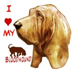 bloodhound dog art bymw