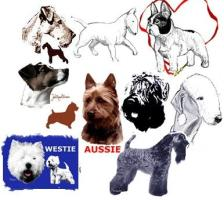 Terriers Dog Art by Madeline Wilson