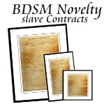 BDSM Novelty slave Contract Posters