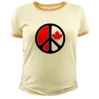 Canadian Maple Leaf Peace Symbol