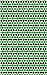 Green, Black Diamond Pattern