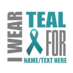 Teal Awareness Ribbon Customized