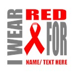 Red Awareness Ribbon Customized