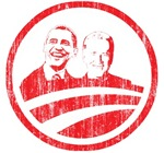 Obama Biden (red vintage faces)