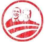 Obama Biden (red vintage faces)