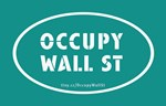 Occupy Wall St Oval Teal