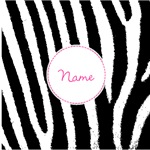 Zebra Print Custom Name Personalized
