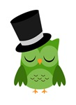 Owl New Year Party Top Hat