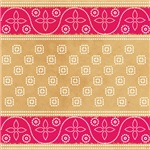 Monogram Indian Sari Pattern Fuchsia Kaki