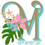 Floral Happy Mothers Day Monogram