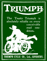 WWI Triumph Motorcycle