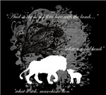 the lion fell in love with the lamb on black