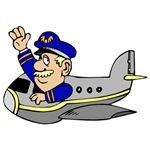 Cartoon Airline Pilot
