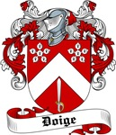 Doige Family Crest, Coat of Arms