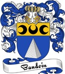 Baudoin Family Crest, Coat of Arms