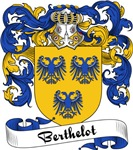 Berthelot Family Crest, Coat of Arms