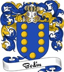 Bodin Family Crest, Coat of Arms