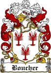 Boucher Family Crest, Coat of Arms