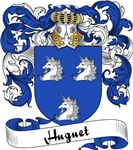 Huguet Family Crest, Coat of Arms