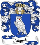 Mignot Family Crest, Coat of Arms