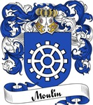 Moulin Family Crest, Coat of Arms